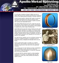 Apollo Metal Spinning - Home Page