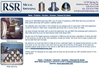 RSR Metal Spinning - Home Page