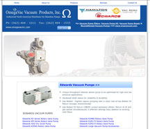 Vacuum Pumps, Edwards Vacuum Pumps, VacAero Vacuum Furnaces, Hamilton Vacuum Pumps